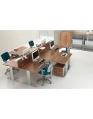 Scrivania Workstation a L da cm. 140
