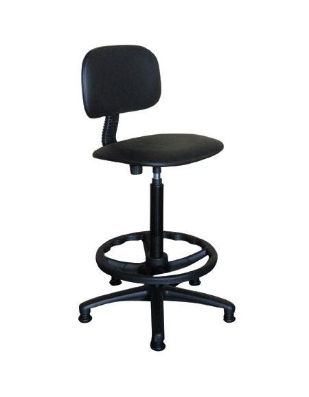 Sgabello da laboratorio con schienale e poggiapiedi for Sgabelli per ufficio