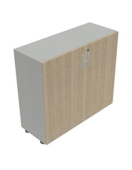 Mobile armadio basso per ufficio da cm 90 ante in legno for Armadio basso ufficio