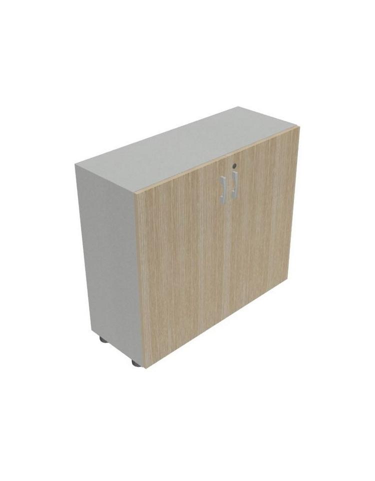 Mobile armadio basso per ufficio da cm 90 ante in legno for Mobile ufficio basso