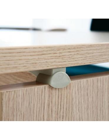 Allunghi Dattilo scrivania con cassettiera - Dimensioni cm. 140x60x72h