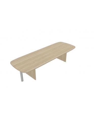 tavolo riunione con terminali - cm 370x110x72