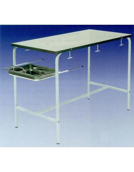 Tavolo per veterinaria ad altezza fissa telaio verniciato for Arredamento ospedaliero