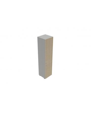 Contenitire medio anta in legno con serratura - cm 45X45X119