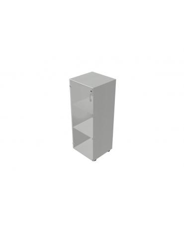 Contenitire medio anta in legno con serratura sovrapponibile - cm 45X45X119