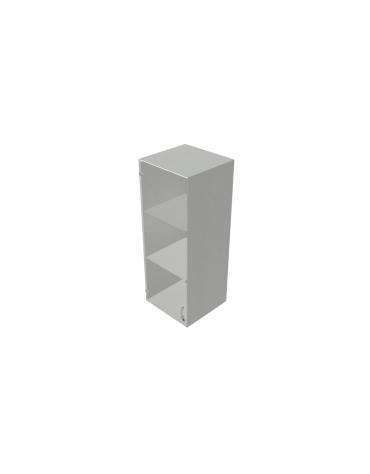 Contenitire medio vetro telaio in alluminio con serratura sovrapponibile - cm 45X45X119