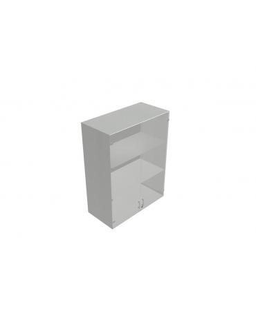 Contenitire medio ante in vetro telaio all. senza serratura - cm 90X45X119