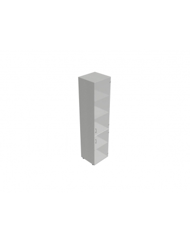 Contenitire medio-alto anta in vetro senza serratura - cm 45X45X157