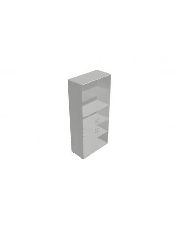 Contenitire alto anta vetro senza serratura - cm 90X45X196