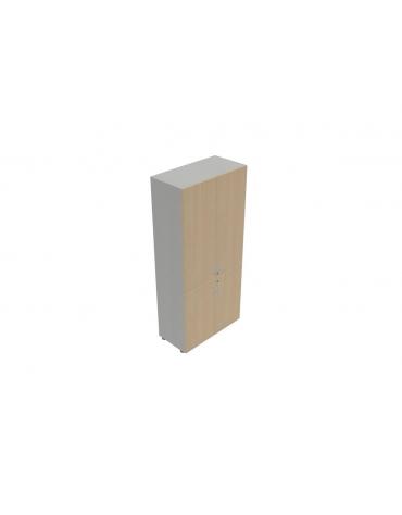 Contenitore alto da giorno anta legno/anta legno - cm 90X45X196