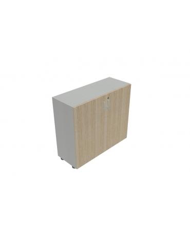 Contenitore basso ante in legno con serratura - cm 90X35X80