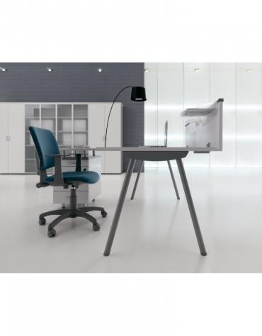 Dattilo scrivania con gambe a cavalletto da cm. 160x60x72h