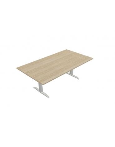 tavolo riunione con gamba a T - cm 200x110x72h