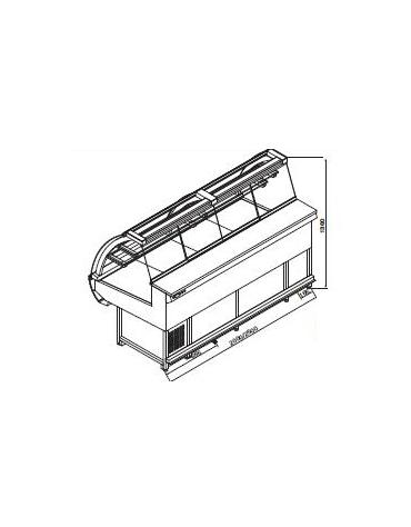 Vetrina pasticceria statica da cm. 200-Motore interno