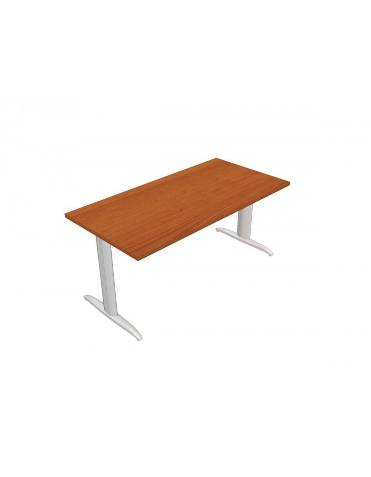Scrivania ufficio operativa gamba a t lunghezza cm for Ufficio scrivania