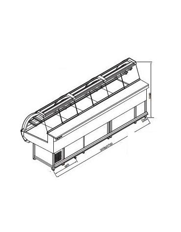 Vetrina pasticceria statica da cm. 300-Motore esterno