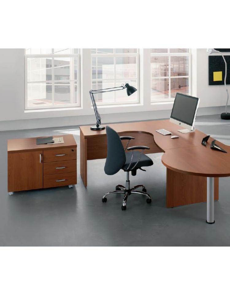 Elegant scrivania workstation a l con cassettiera per ufficio cm xxh with cassettiera per ufficio - Cassettiere per ufficio ikea ...