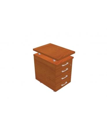 Cassettiera tre cassetti + 1 cancelleria per workstation cm 41x60/80x72h