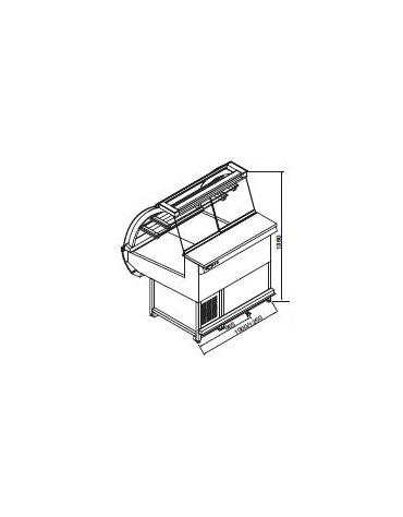 Vetrina pasticceria statica da cm. 100-Motore esterno