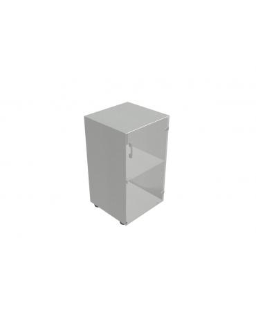 Contenitire basso anta in vetro senza serratura - cm 45x45x80h