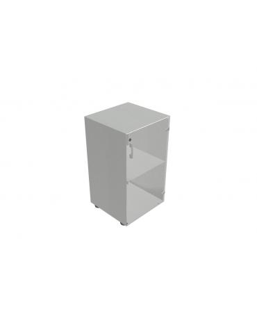 Contenitire basso anta in vetro con serratura - cm 45x45x80h