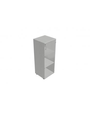 Contenitore medio con anta in vetro con serratura - cm 45x45x119h