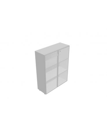 Contenitore medio alto anta in vetro con serratura - cm 90x45x157h