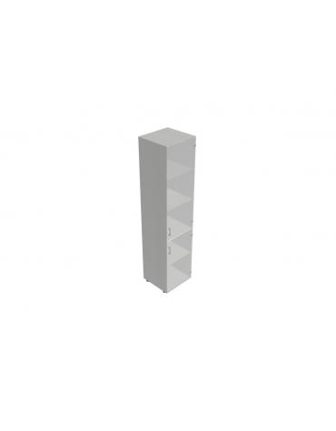 Contenitore alto con anta in vetro senza serratura - cm 45x45x196h