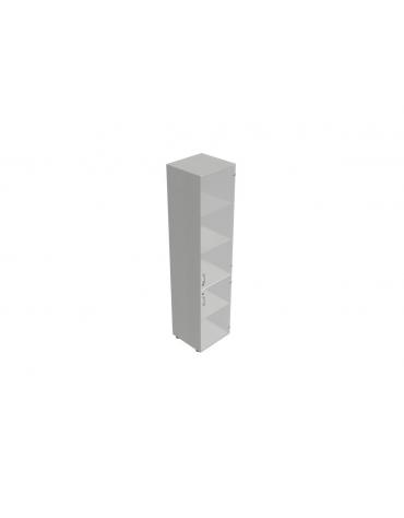 Contenitore alto con anta in vetro con serratura - cm 45x45x196h