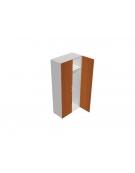 Contenitore alto porta abiti con anta in legno - cm 90x45x196h