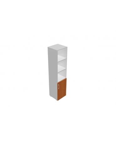 Contenitore alto giorno con anta in legno bassa - cm 90x45x196h