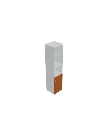 Contenitore alto con anta vetro / anta legno con serratura - cm 45x45x196h