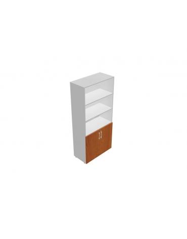 Contenitore alto a giorno con anta legno bassa - cm 90x45x196h
