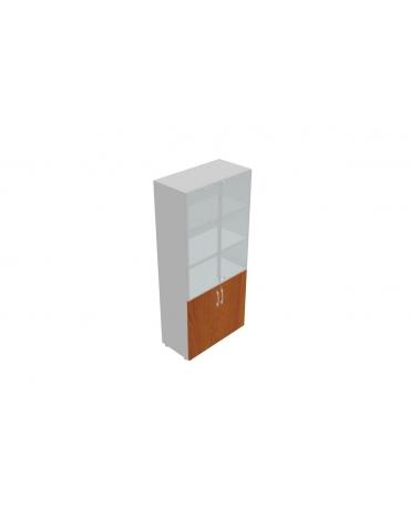 Contenitore alto con anta legno / anta vetro con serratura - cm 90x45x196h