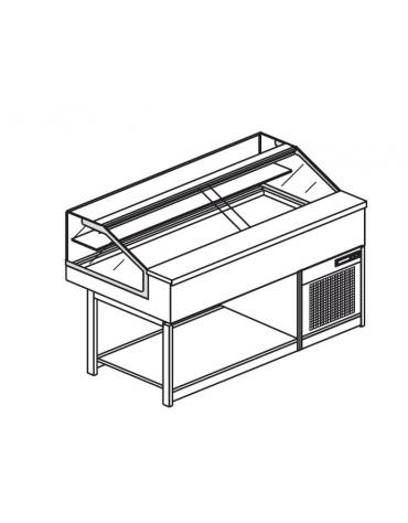 Vetrina fredda vetri dritti bassi da cm. 150 - Refrigerazione ventilata