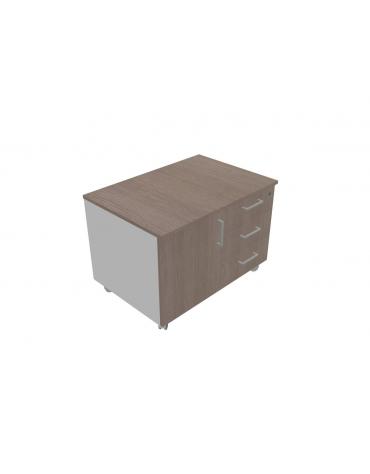 Cassettiera su ruote - tre cassetti cm 84x58x59h