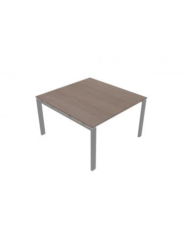 Tavolo riunione quadrato - gamba a U - cm 120x126x72h