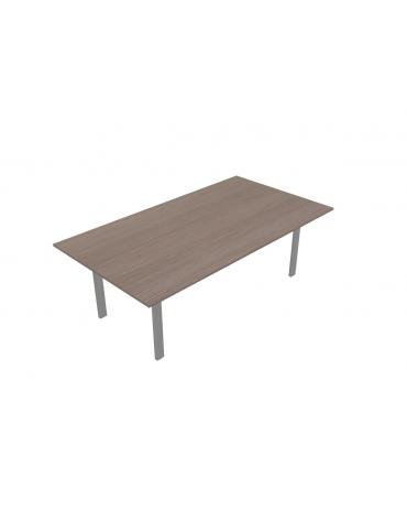Tavolo riunione quadrato - gamba a U - cm 220x120x72h