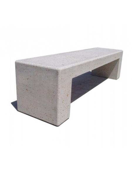 Panchina rettangolare monoblocco in calcestruzzo bianco for Arredo urbano panchine