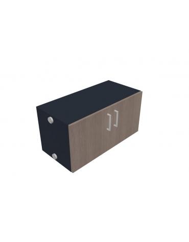 Contenitore con ante per mobile a muro - cm 80x32x40h
