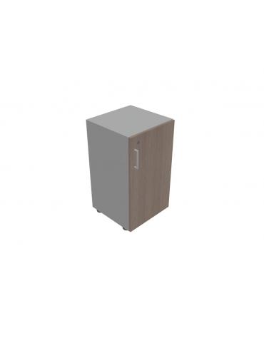 Mobile contenitore basso - anta in legno con serratura cm 45x45x80h