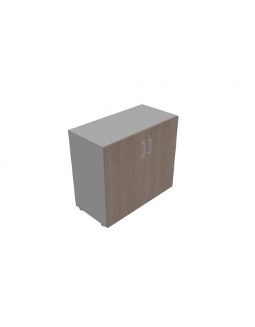 Mobile contenitore basso - anta in legno con serratura cm 90x35x80h