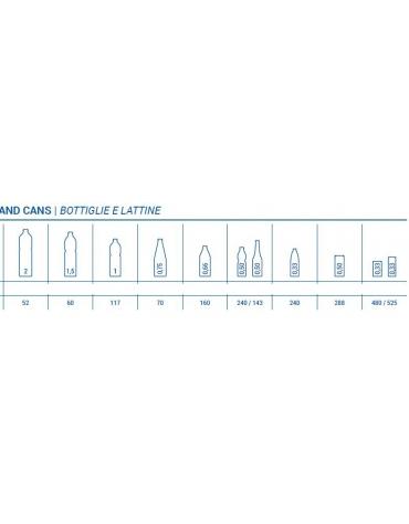 Frigorifero sottobanco orizzontale per bibite 3 porte da cm. 135