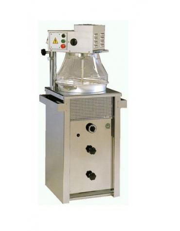 Mescolatore di polenta da Kg.15 con distributore di farina