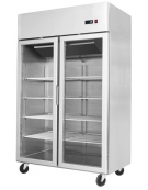 Armadio frigorifero inox GN 2/1 Lt. 700 Porte in vetro