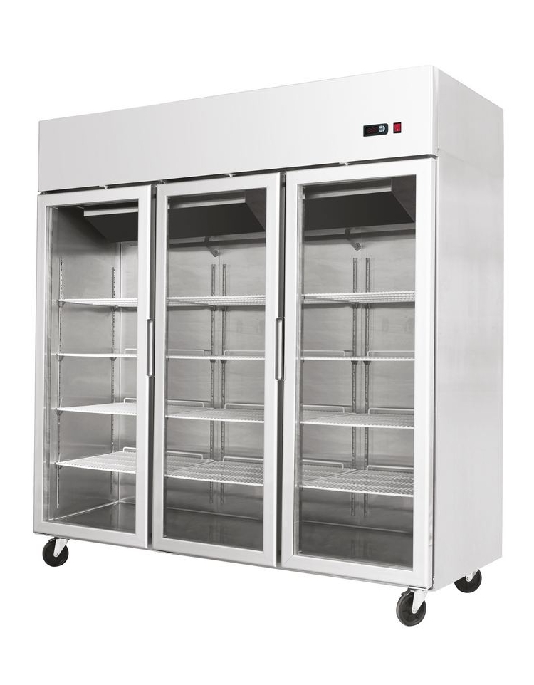 Armadio frigorifero inox gn 2 1 lt 700 porte in vetro for Frigorifero 3 porte