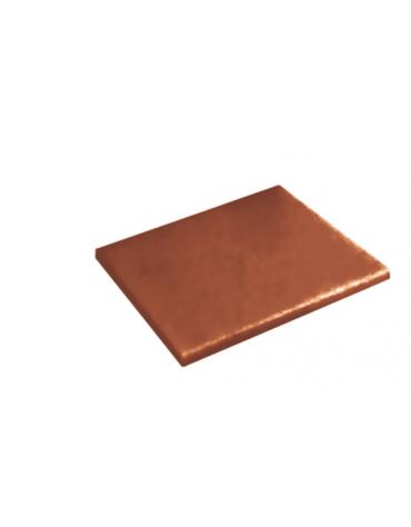 Tagliere in polietilene -  GN 1/2 colore marrone -  cm 32x26,5x2h