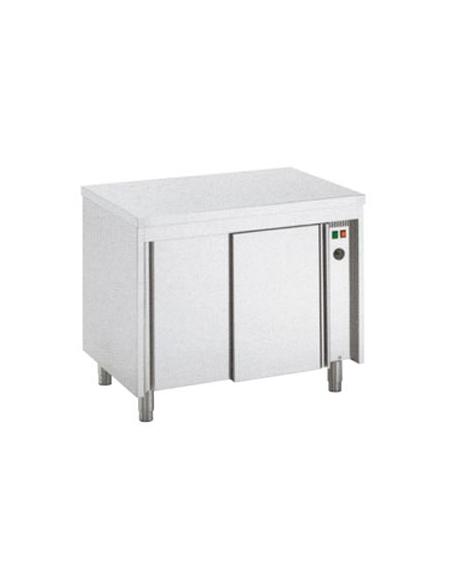 Tavolo armadiato tamburato caldo inox cm 110x70x85 90h for Tavolo cucina 70 x 110