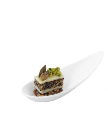 Cucchiaio finger-food in melamina - colore bianco -cm 11x4,3