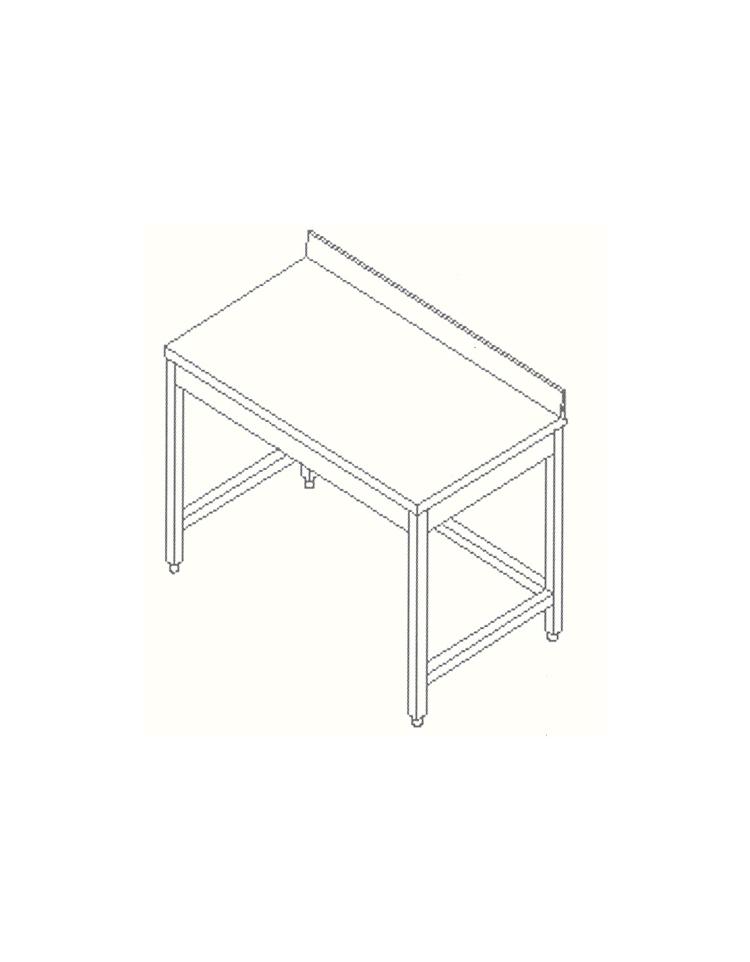 Tavolo inox con cornice e alzatina cm 300x60x85 90h profondit cm 60 con alzatina tavoli - Tavolo profondita 60 cm ...